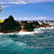 View on the rocks in ocean — Stockfoto