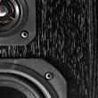 Black hi-fi sound speakers — Stock fotografie