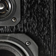 Black hi-fi sound speakers — ストック写真