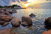 Tropical sea colorful sunset. — Stock Photo