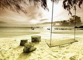 Egzotik tropik sahil. — Stok fotoğraf