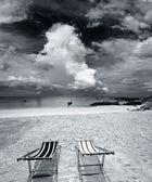 Egzotyczne tropikalnej plaży. — Zdjęcie stockowe