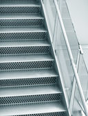 Abstract empty steps in airport — Stock Photo