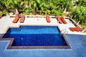Small resort pool — Stock Photo