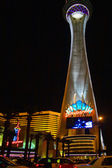 Night lights of the Stratosphere Tower — Stock Photo