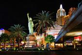 New York, New York Hotel & Casino at night — Stock Photo