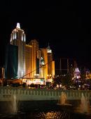 New York, New York Hotel & Casino at night — Fotografia Stock