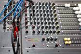 Audio sound mixer — Stock Photo
