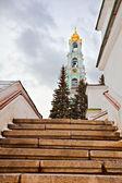 Old russian church in gloomy weather — Stock Photo