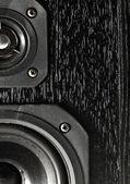 черный hi-fi звуковые колонки — Стоковое фото