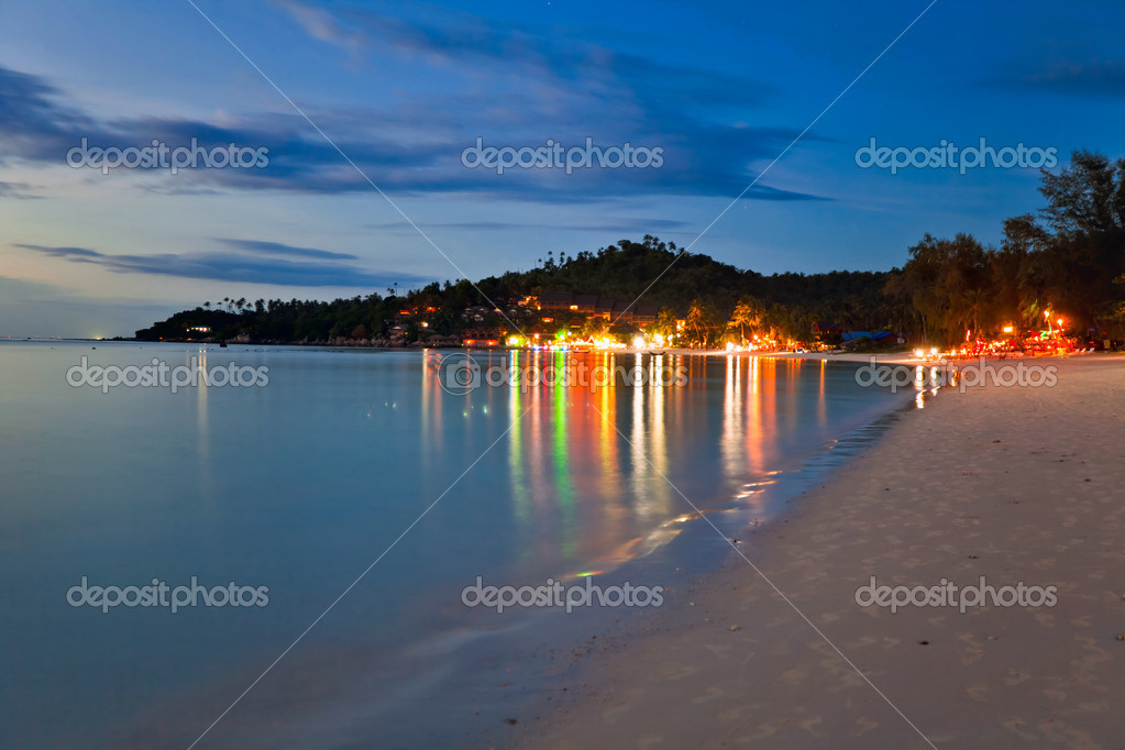Night at the tropical beach. Phuket. Thailand  — Stock Photo #8302292
