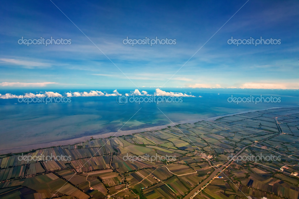 Aerial view of farmland near the Bangkok. Thailand — Stock Photo #8302591