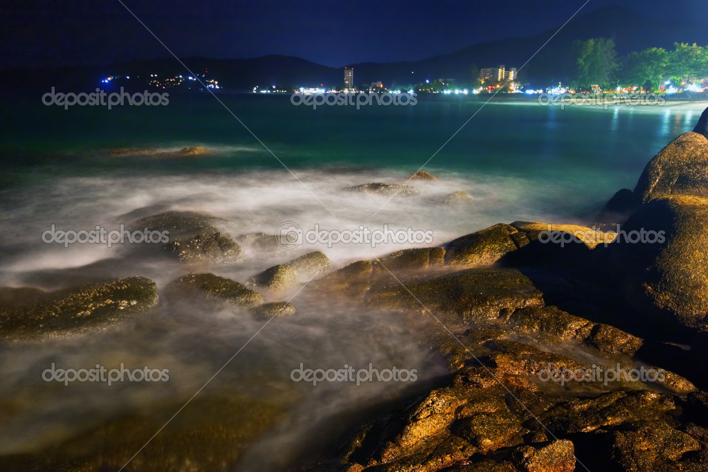Tropical night at the beach.Thailand  Stock Photo #8303332