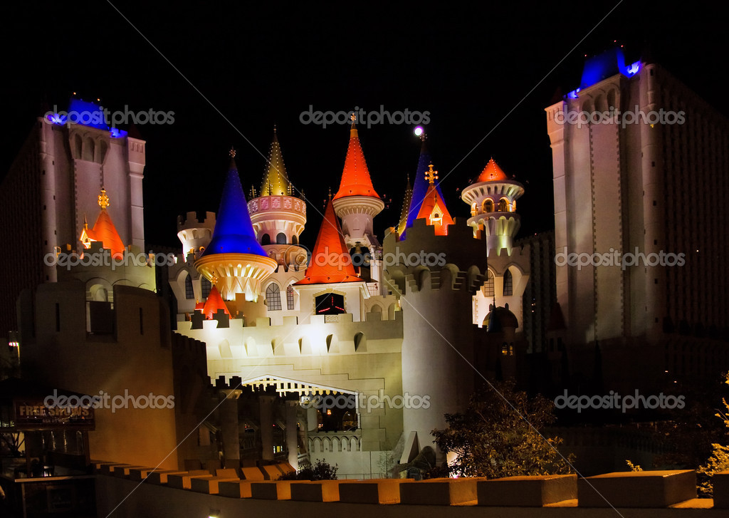 The Excalibur Hotel & Casino is shown in this image taken at night on May 2, 2007 in Vegas. The hotel cost approximately $290 million and ope — Stock Photo #8304478