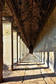 Ancient corridor at Angkor Wat — Stock Photo