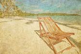 Dos sillas de playa sol — Foto de Stock