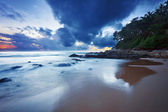 Gloomy tropical sunset. — Stock Photo