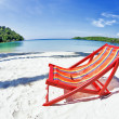 Sun beach chair at the beach - Stock Photo