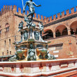 Italy bologna the fountain of Neptune in old town — Stock Photo