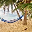 Hammock at the beach — Stock Photo