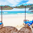 Stock Photo: On the sand tropical beach. Andaman sea. Phuket island. Kingdom