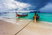 Boats in the tropical sea. Thailand — Stock Photo