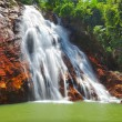 Stock Photo: Beautiful cascade waterfall