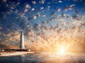 Lighthouse at night — Stock Photo