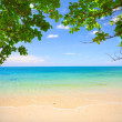 Beautiful tropical beach - Stock Photo
