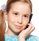 Girl, talking on the phone — Foto Stock