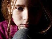 伤心的女孩 — 图库照片