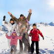 Foto Stock: Family in the winter