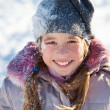 Girl in the winter — Stock Photo