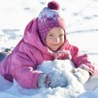Girl in the winter - Stock Photo