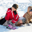 Children in the winter - Stock Photo