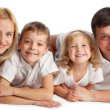 Stock Photo: Family with two children