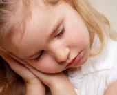 睡着的小女孩 — 图库照片