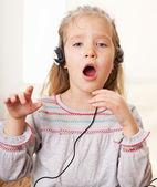 Singing little child — Stock Photo