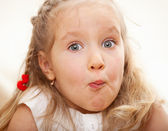 Grimacing child — Stock Photo