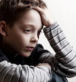 伤心的男孩 — 图库照片