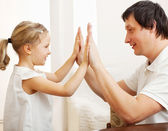 Happy father with daughter — Stock Photo