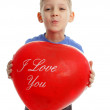 Boy with ballon - Foto Stock