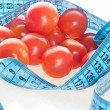 Tomato with measurement — Stock Photo