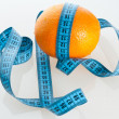 Orange Fruit with measurement — Stock Photo