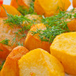 Fried potato with fennel — Stock Photo
