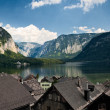 View on Hallstatt, Alps and lake — Stock Photo