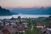 Mountains near lake — Stock Photo