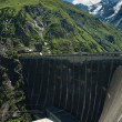 Stock Photo: Kaprun Dam and Alps