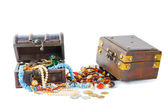 Two chest with lots of jewels — Stock Photo