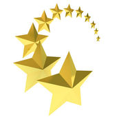 Eleven gold stars on white background — Stock Photo